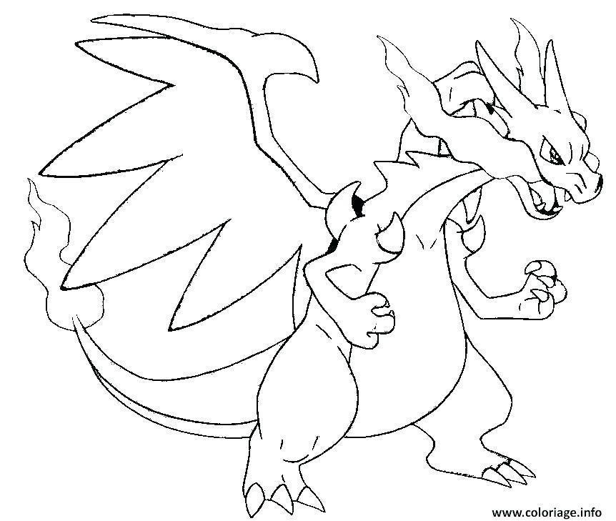 Coloriage Pokemon Legendaire Mega Evolution Pokemon Coloring