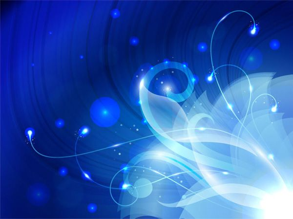 Blue Fantasy Abstract Floral Background - http://www.welovesolo.com/blue-fantasy-abstract-floral-background/