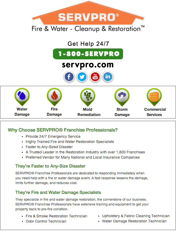 Servpro Facts Fire Water Cleanup Restoration Restoration