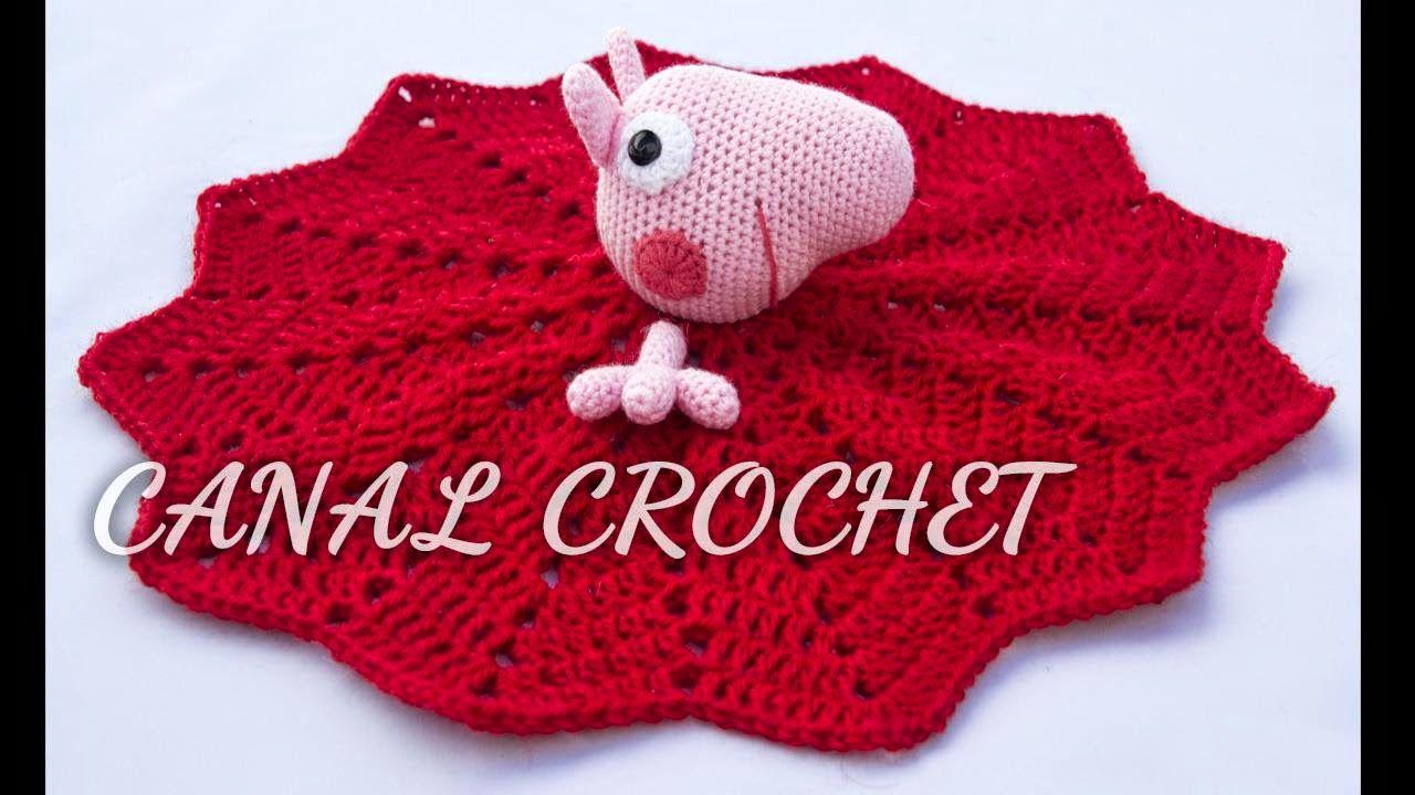 CANAL CROCHET: Mantita Peppa Pig, patrón libre. | Proyectos que ...