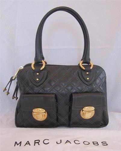 Marc Jacobs Black Quilted Blake Satchel Handbag From The Strathmore On Ebay
