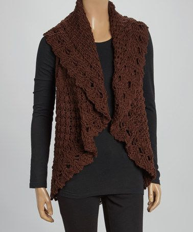 Another Great Find On Zulily Brown Cable Knit Sleeveless Sweater