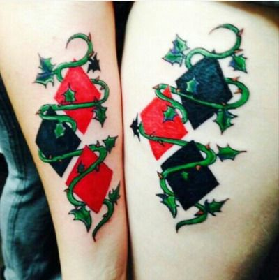 harley quinn tattoo tumblr costumes pinterest harley quinn rh pinterest com Poison Ivy Batman Tattoo Poison Ivy Thigh Tattoo