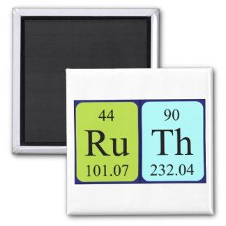 Ruth periodic table name magnet my name in lights 3 pinterest my name ruth gifts on zazzle table namesperiodic urtaz Image collections