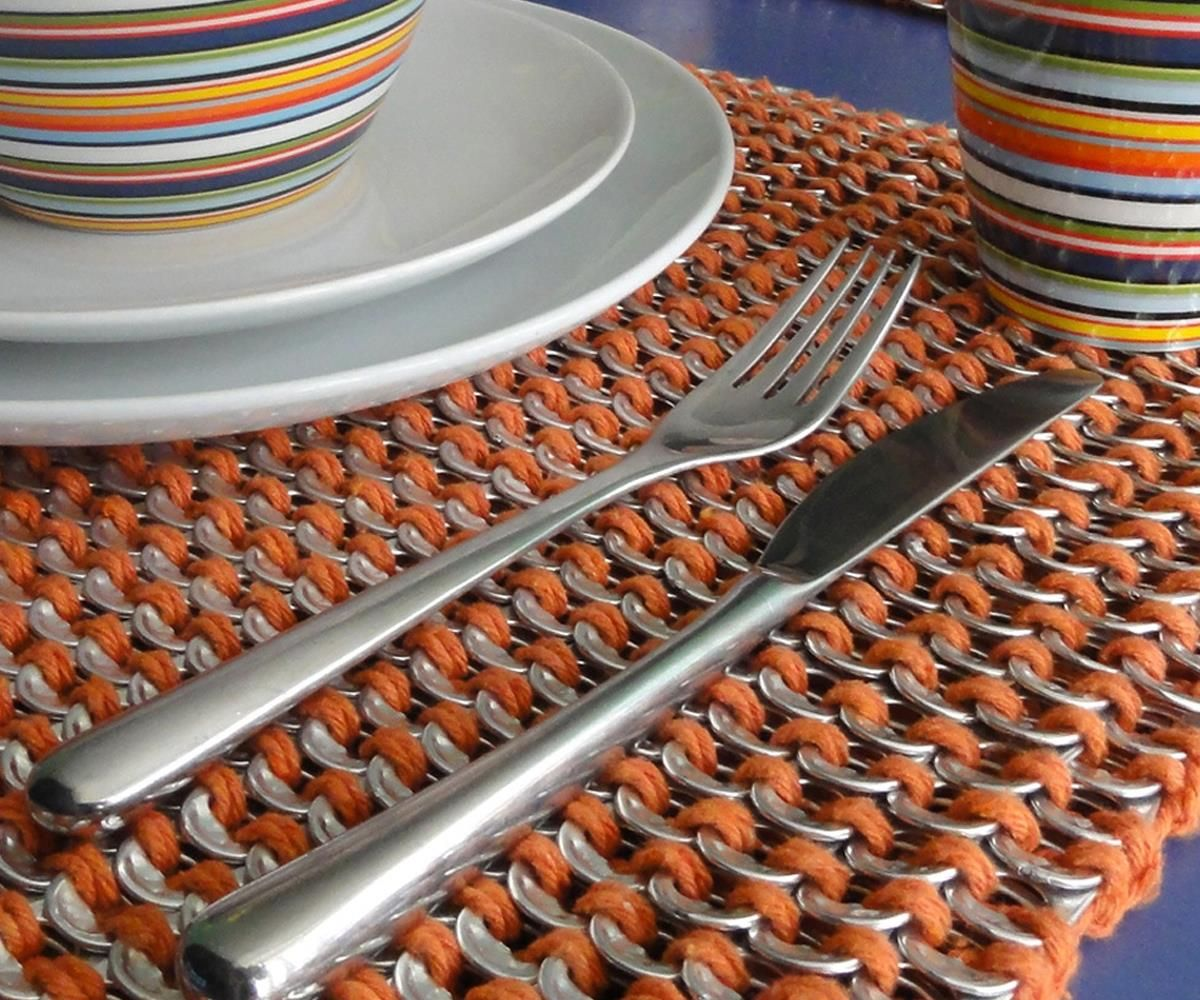 This is handmade with 1080 ring pulls! That's a lot of ring pulls saved from landfil!