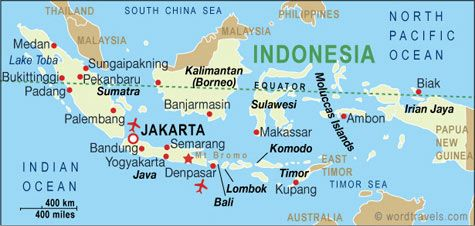 Indonesia map travel indonesia pinterest indonesia travel indonesia map indonesia travel maps from word travels sciox Image collections