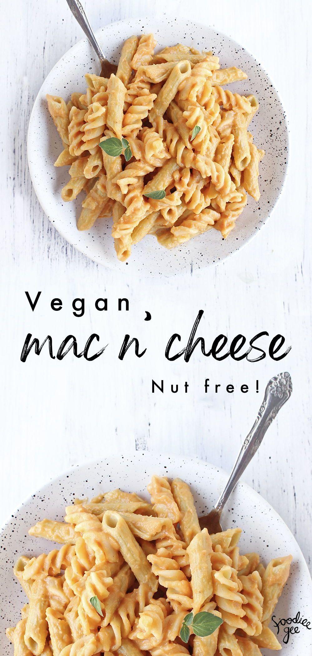 Vegan Mac And Cheese Nut Free In 2020 Vegan Eating Vegan Pasta Recipes Vegan Meal Plans