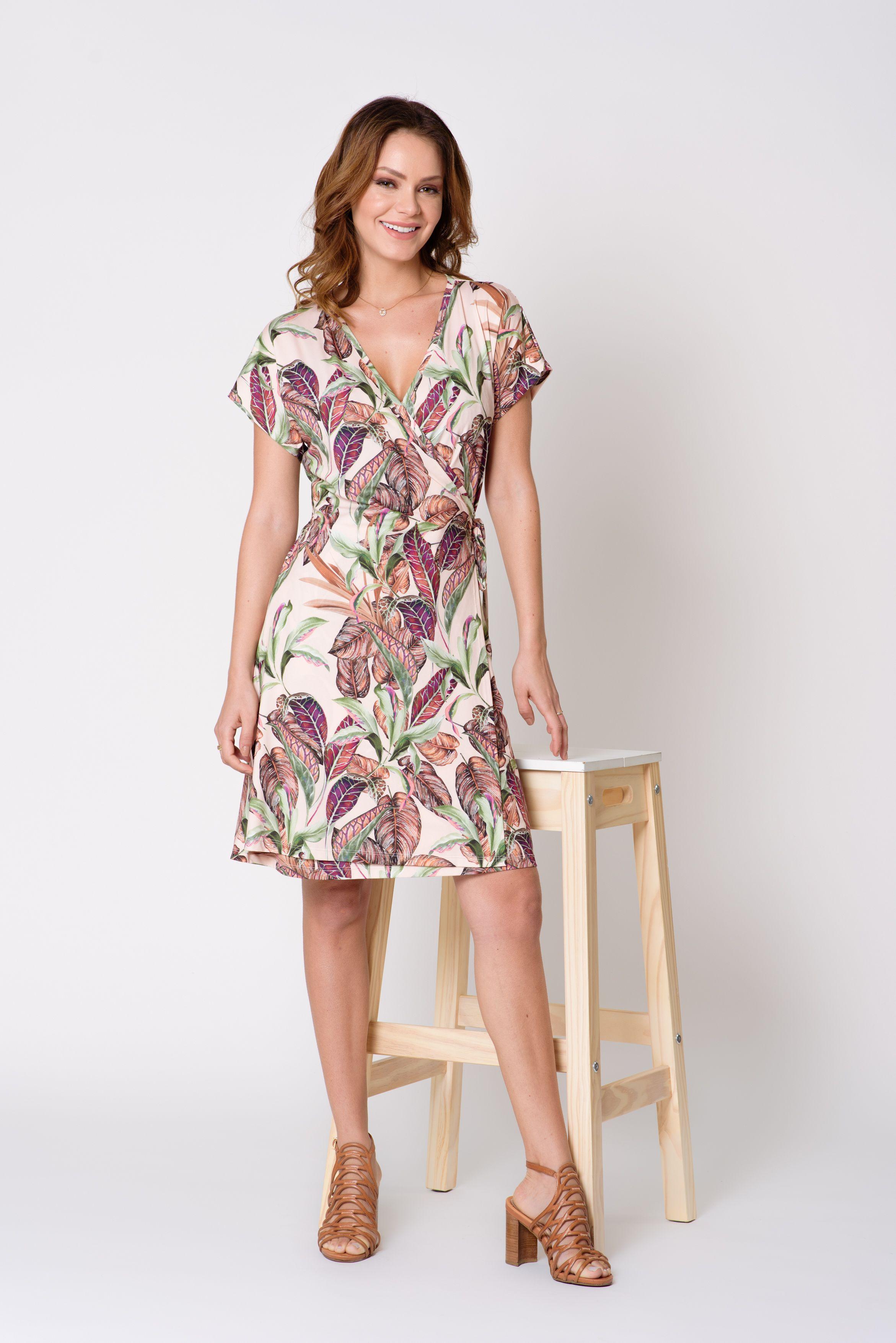 Vestido De Malha Com Estampa Floral Em 2019 Estampas