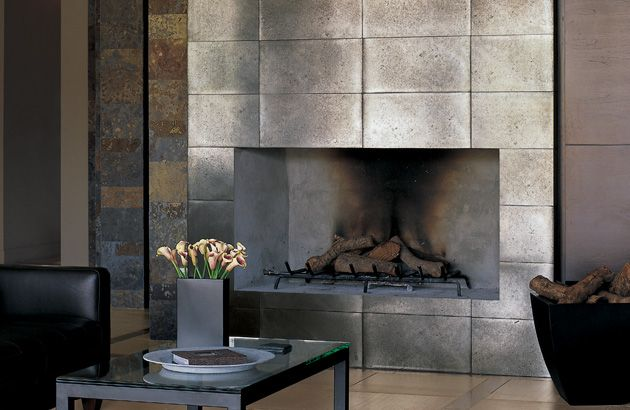Modern Tile Steelworks Metallic Porcelain Connecticut Stone