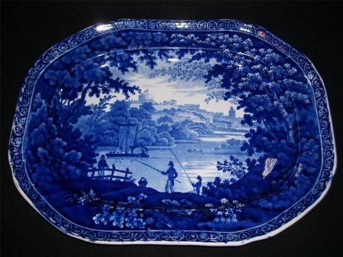 CLEWS HISTORICAL BLUE STAFFORDSHIRE PLATTER