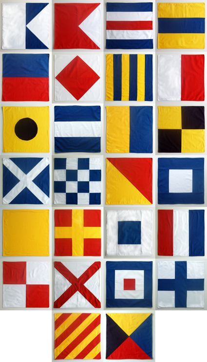 tutorial nautical flag fabric napkins each pattern represents a letter of the alphabet