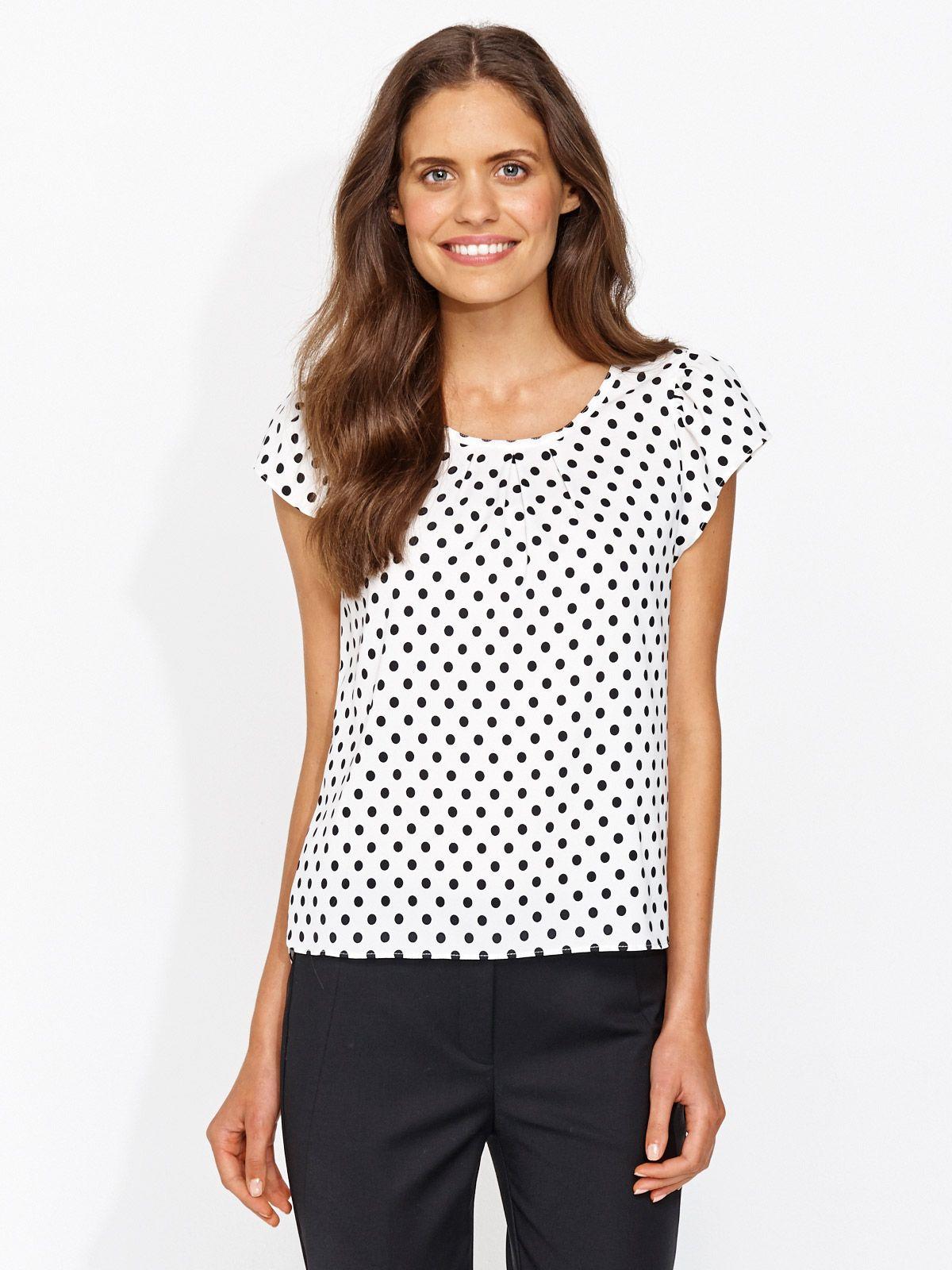a5b6f568c7e3c Ruffle Spot Sleeve Top. Ruffle Spot Sleeve Top Zara Whites