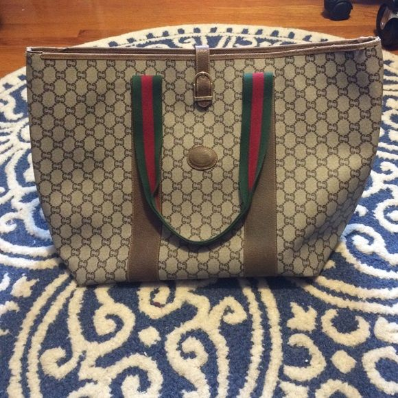 c855a9337b7f Spotted while shopping on Poshmark: Vintage Gucci Plus Tote! #poshmark # fashion #shopping #style #Gucci #Handbags
