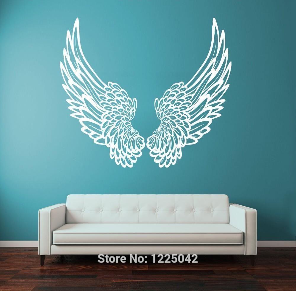 Guardian Angel Wings Wall Decal My Angel Wings Wall Decor Sticker Wall Art Angel Wings Wall