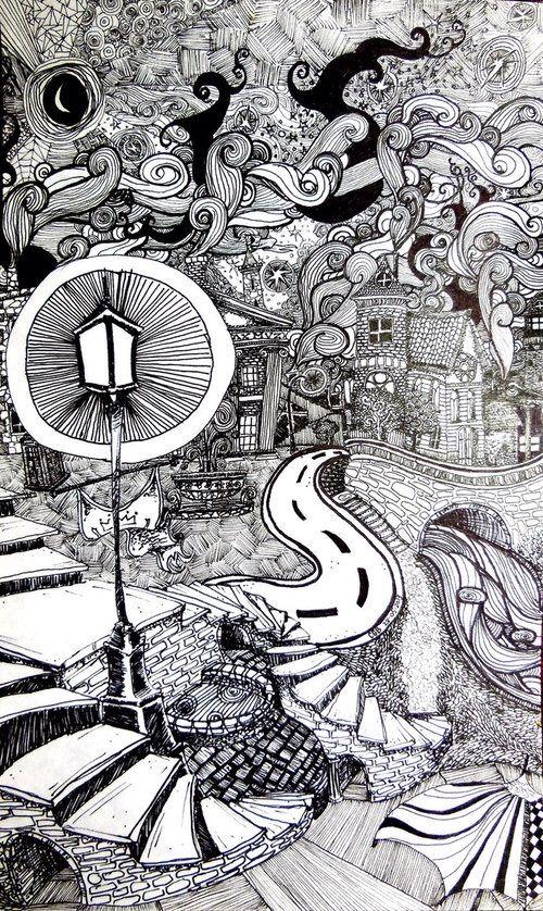 Image Via We Heart It Art Cool Doodle Drawing Ideas Lineart