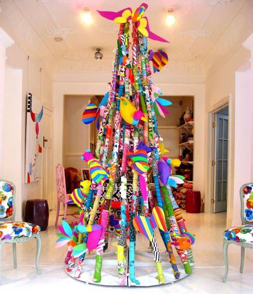 rboles de Navidad Reciclados Arbol de navidad original Arboles