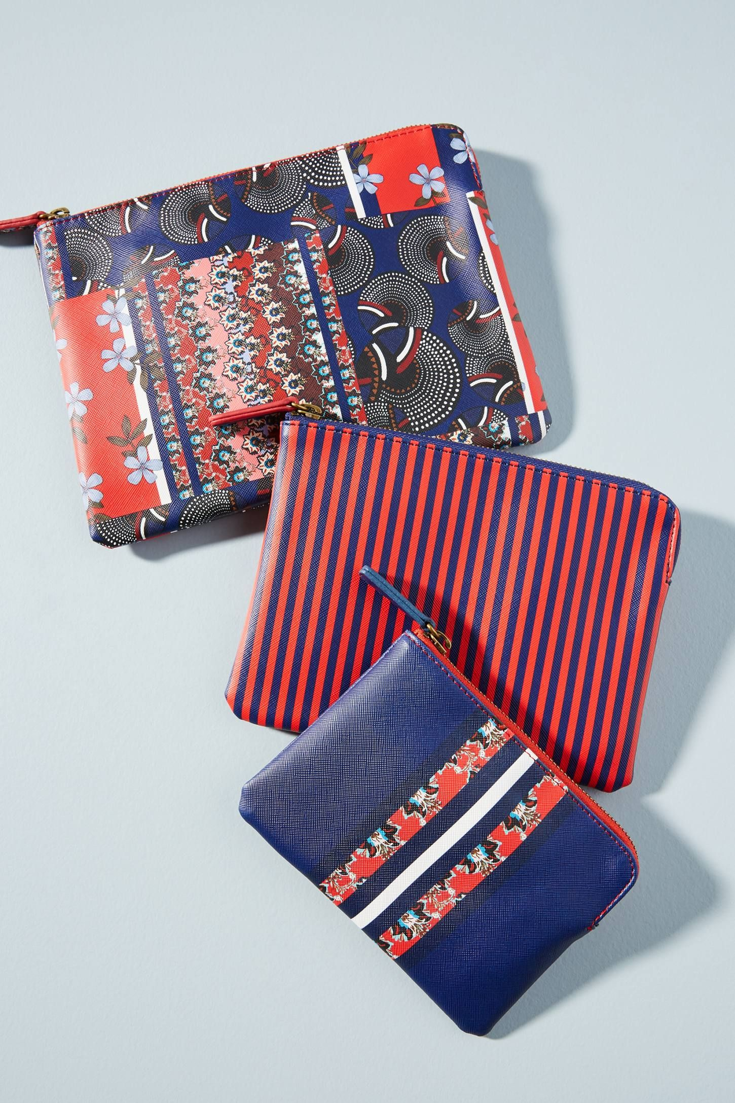 MACKENZIE Anthropologie Holiday Pouch Gift Set - Red Separates ... b77906ac5