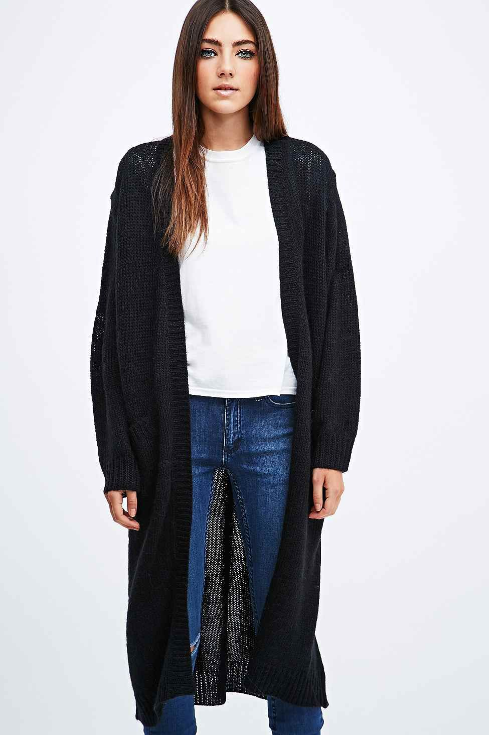 Cheap Monday Vain Oversized Longline Cardigan in Black | Style ...
