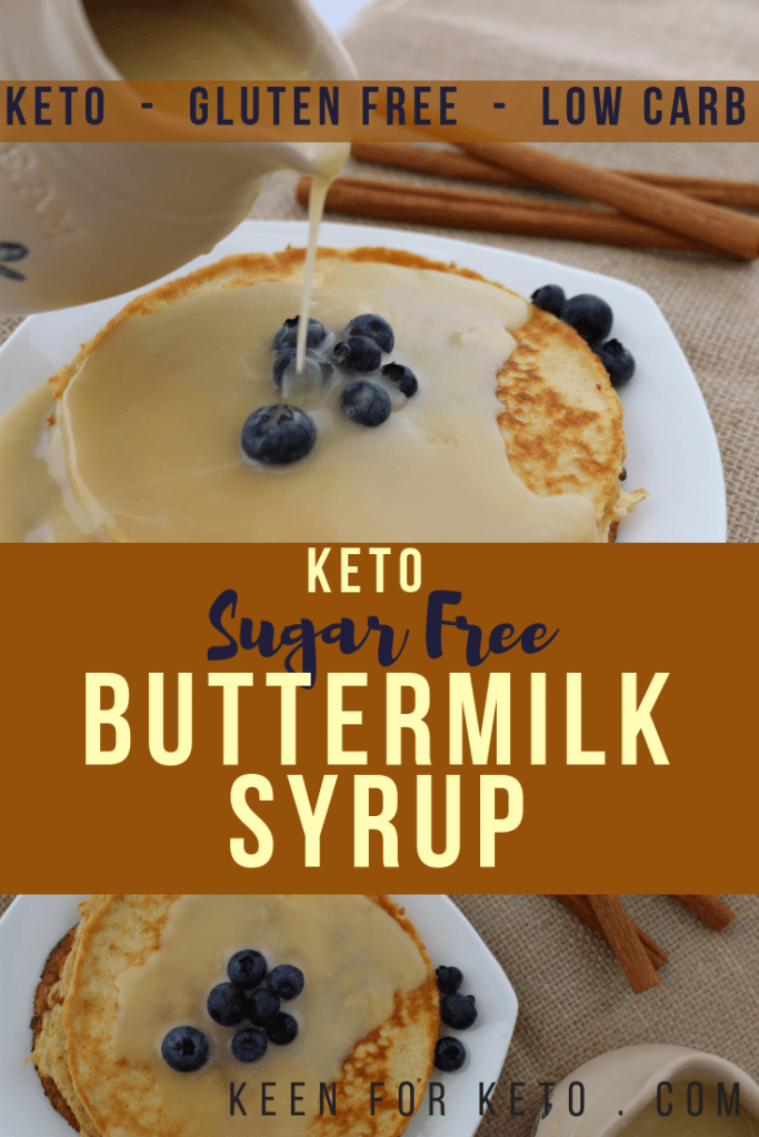 Keto Sugar Free Buttermilk Syrup - Low Carb Syrup - Keen for Keto