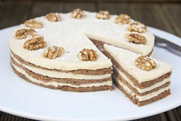 My healthy, raw (but still delicious!) take on the traditional carrot cake. The 'cream cheese' icing is better than it's original counterpart - you'll never guess that it's dairy-free!