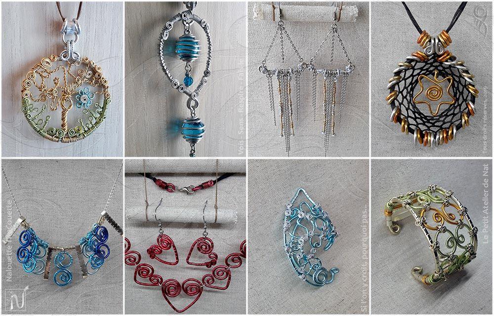 faire bijoux fantaisie long collier tissus fil
