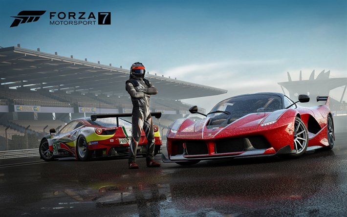 Download wallpapers Forza Motorsport 7, 2017, Ferrari FXX,K