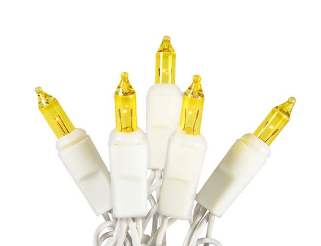 set of 20 battery operated gold mini christmas lights white wire