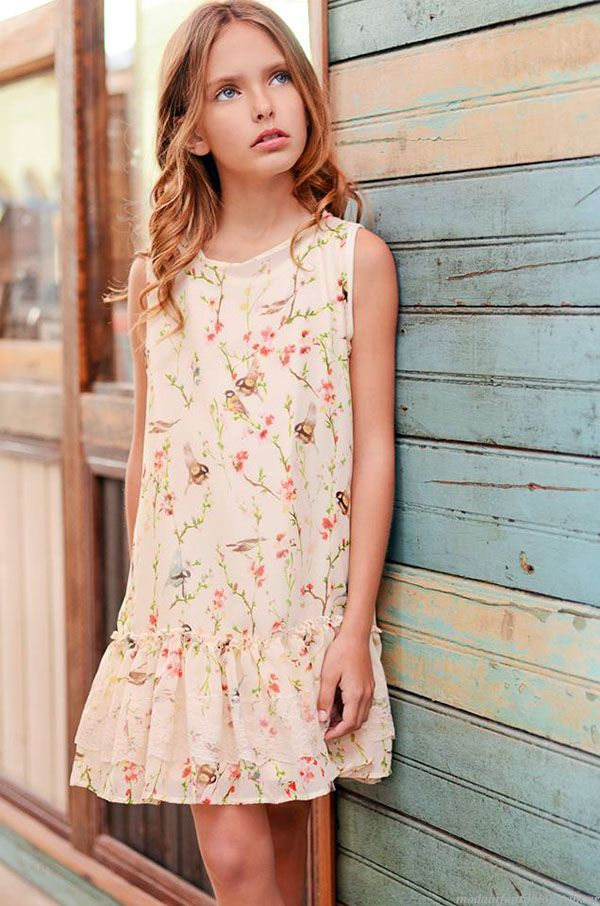 fa5f9de94 Moda primavera verano 2015 vestidos para niñas.