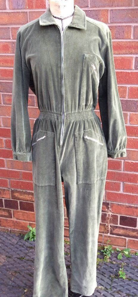 1940s Style Green Corduroy Siren Suit. WW2 Wartime Air Raid Outfit   eBay
