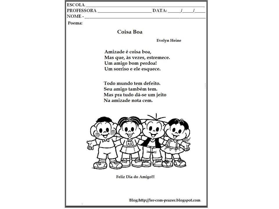 Blog Da Tia Claudia Projeto Dia Do Amigo Com Imagens Dia Do