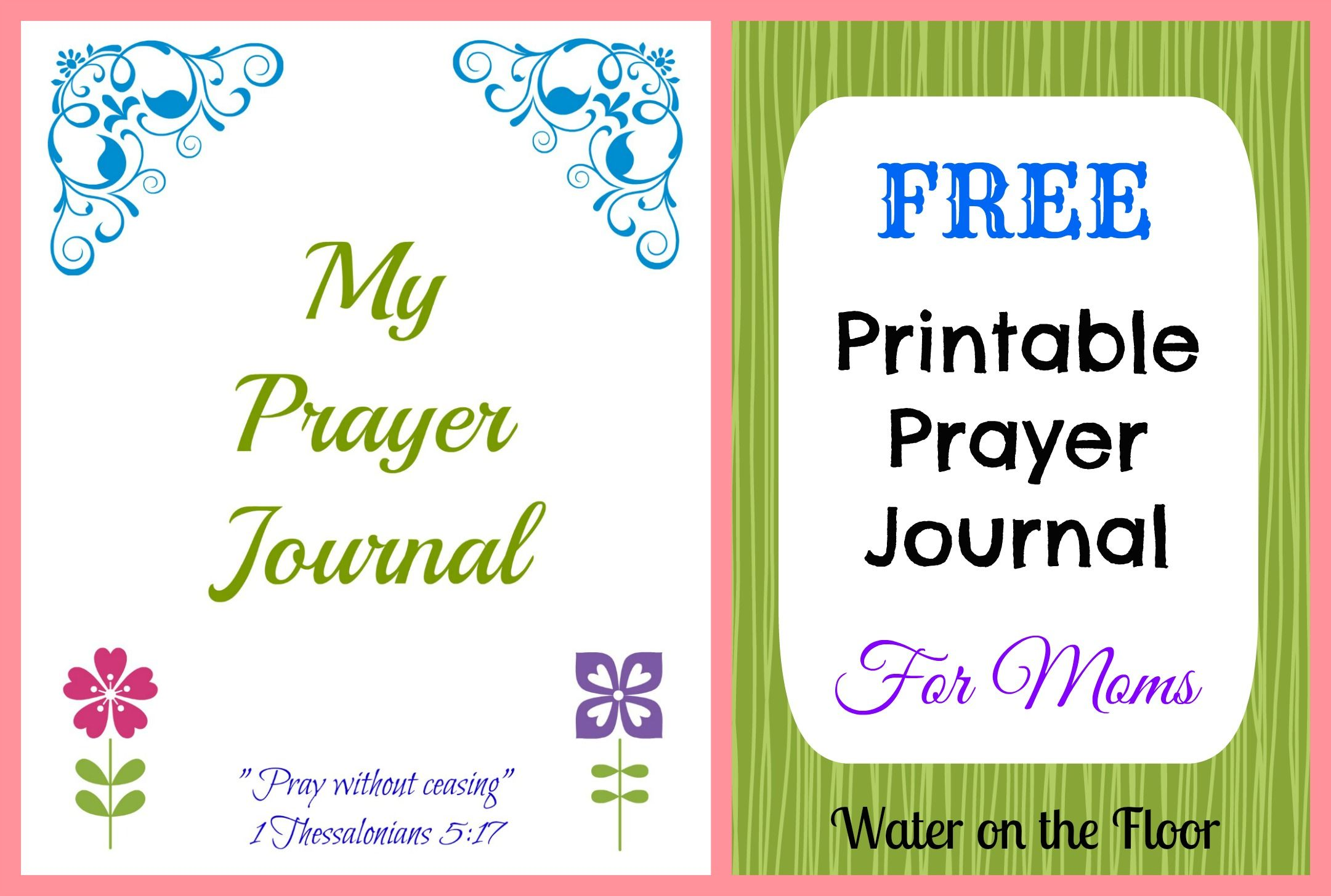 picture regarding Free Printable Prayer Journal called Cost-free Printable Prayer Magazine for Mothers For a far better me