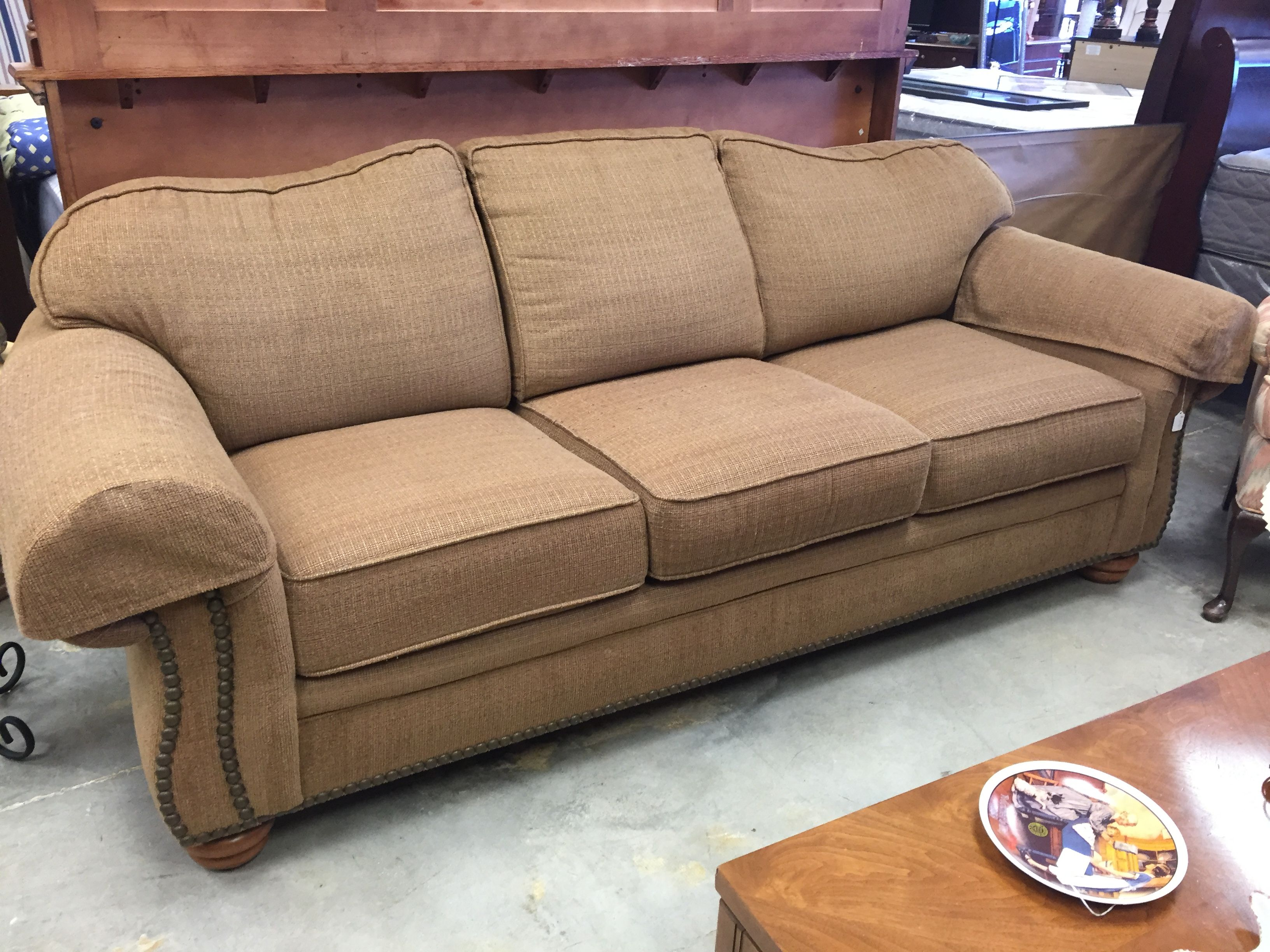 Neutral color Flexsteel sofa- $395   #home #house #apartment #furniture #mk #forsale #sofa #couch #livingroom #design #decor