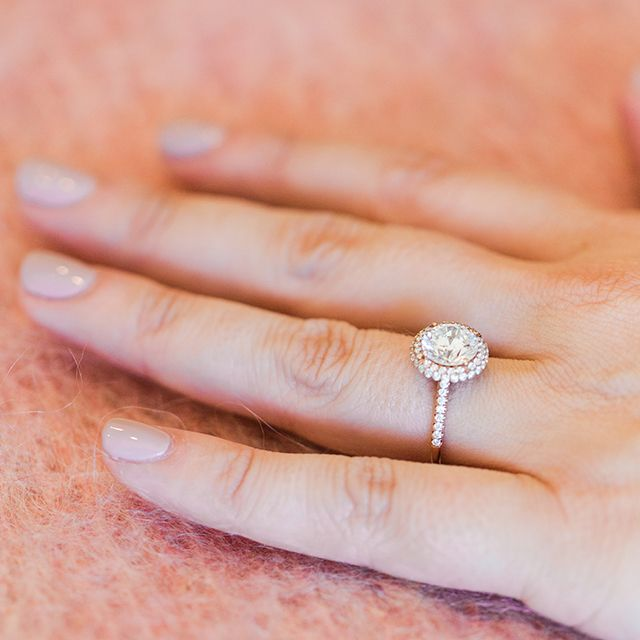 14k Rose Gold Falling Edge Pave Diamond Engagement Ring Most Beautiful Engagement Rings Beautiful Engagement Rings Double Halo Engagement Ring