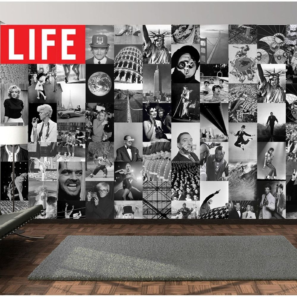 1 wall 1 wall life magazine cover photo 64 piece creative collage all wallpapers pinterest - Magazine wall decor ...