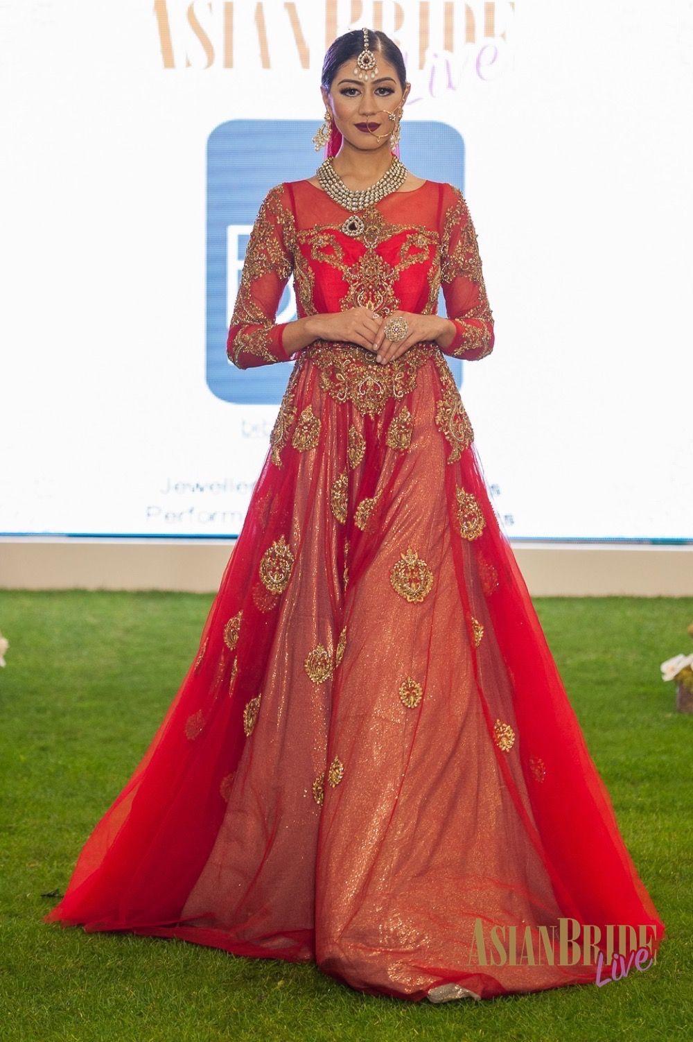 ecdf37c7be Red Bridal Lengha Bibi London -INDIAN-PAKISTANI-WEDDING-FASHION ...