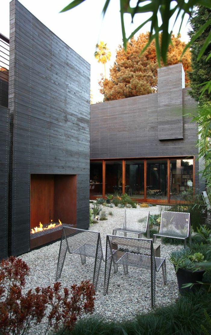110 Garten gestalten Ideen in City-Style , wie Sie den Außenbereich - feuerstelle im garten gestalten
