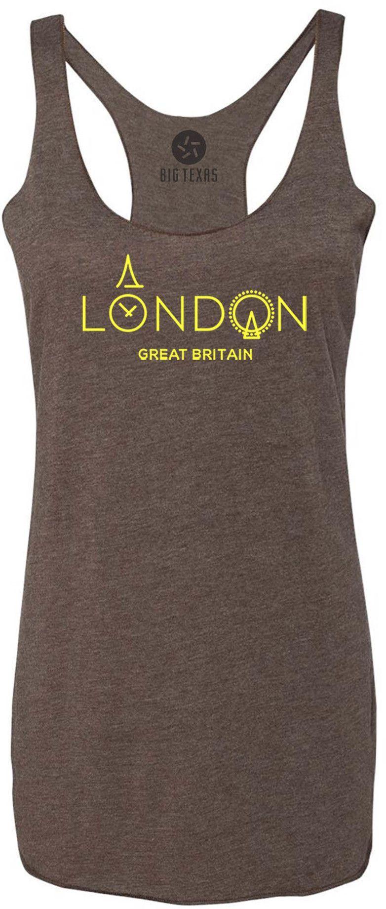 City of London (Yellow) Tri-Blend Racerback Tank-Top