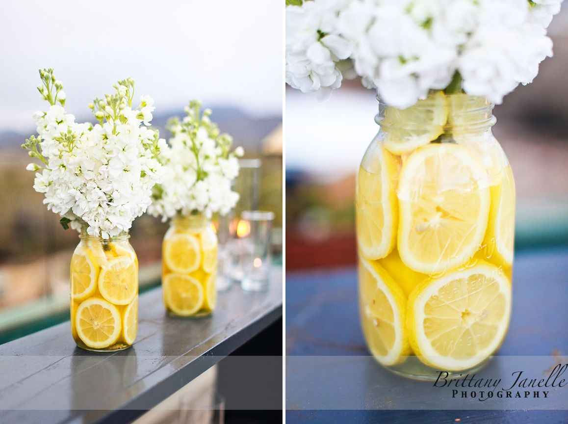 Love the citrus other pinterest lemon flowers and jar