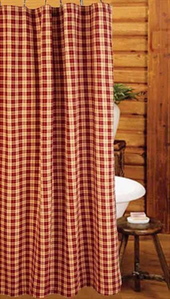 Barn Red Parkersburg Plaid Shower Curtain 72 X