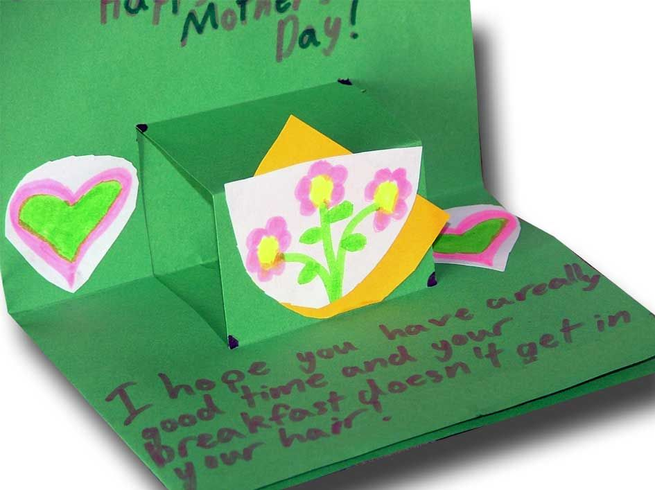 Mothers Day Cards Ideas For Children To Make Part - 16: Mothers Day Crafts Ideas For Kids