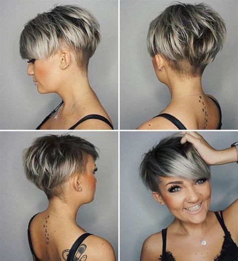 Hairstyles For Very Short Hair Short Hairstyle 2018  20  Asymmetrical Pixie  Pinterest