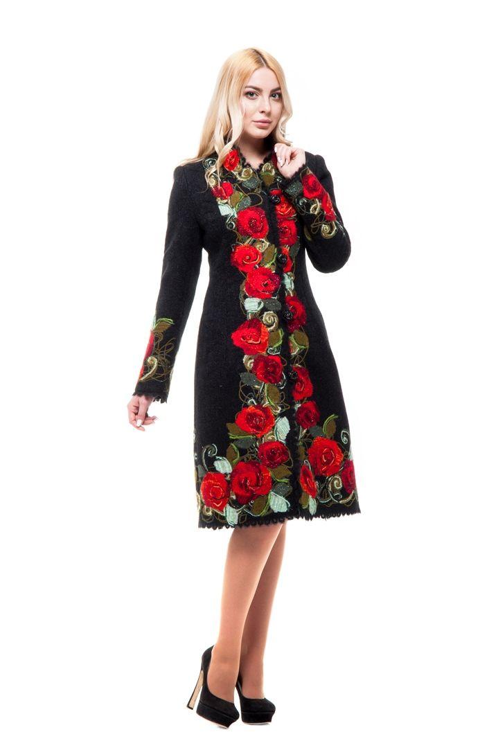 женское пальто русский стиль.
