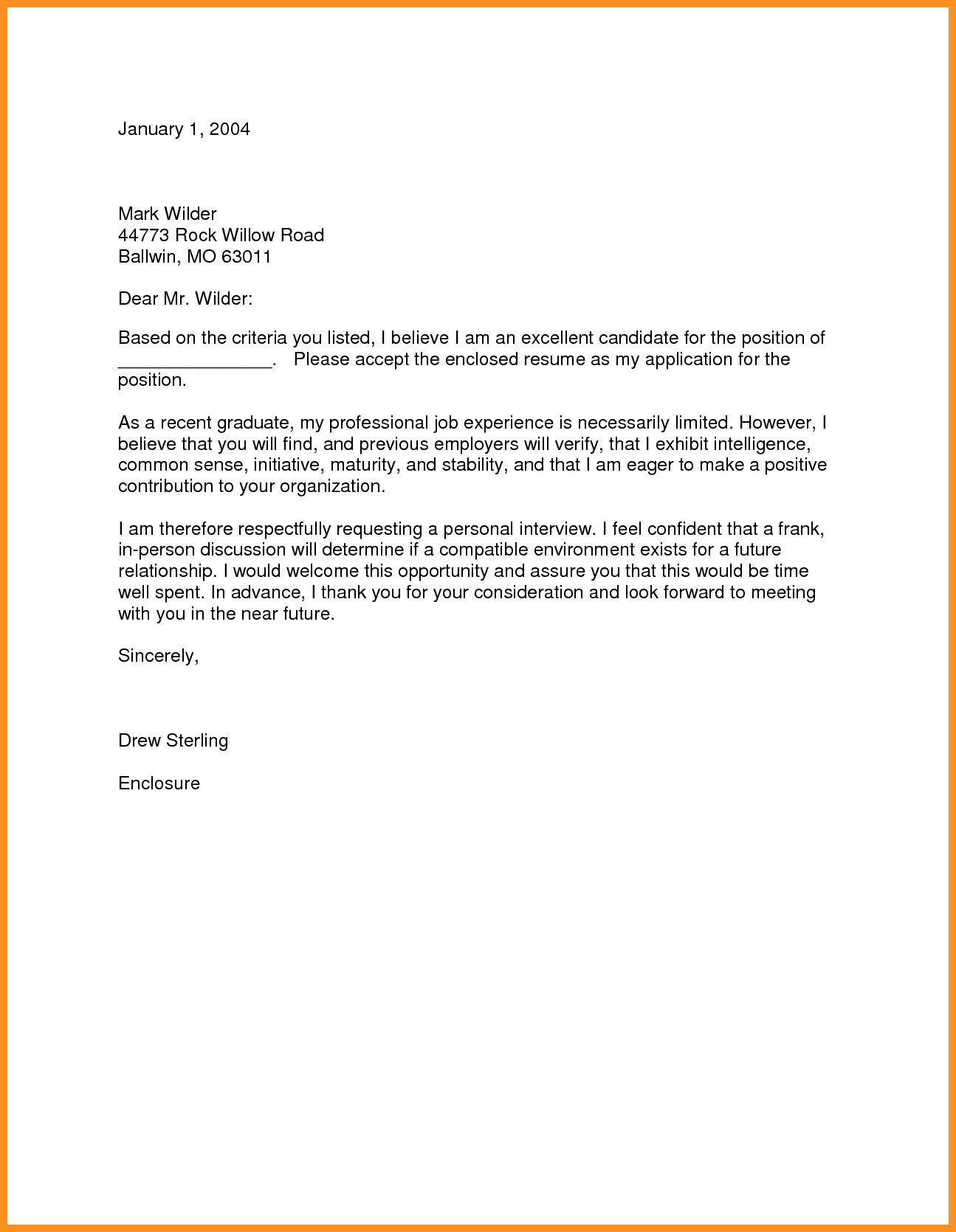 27 Recent Graduate Cover Letter Resume Cover Letter Examples