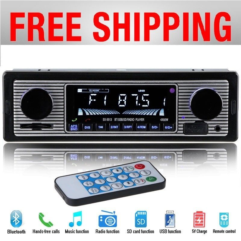 Classic Car Stereo Audio Bluetooth Vintage Car Radio MP3
