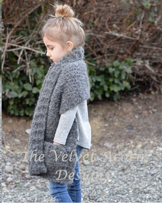 Crochet PATTERN-The Eden Wrap (2/3, 4/6, 7/9, 10/12, 14/16, Adult ...