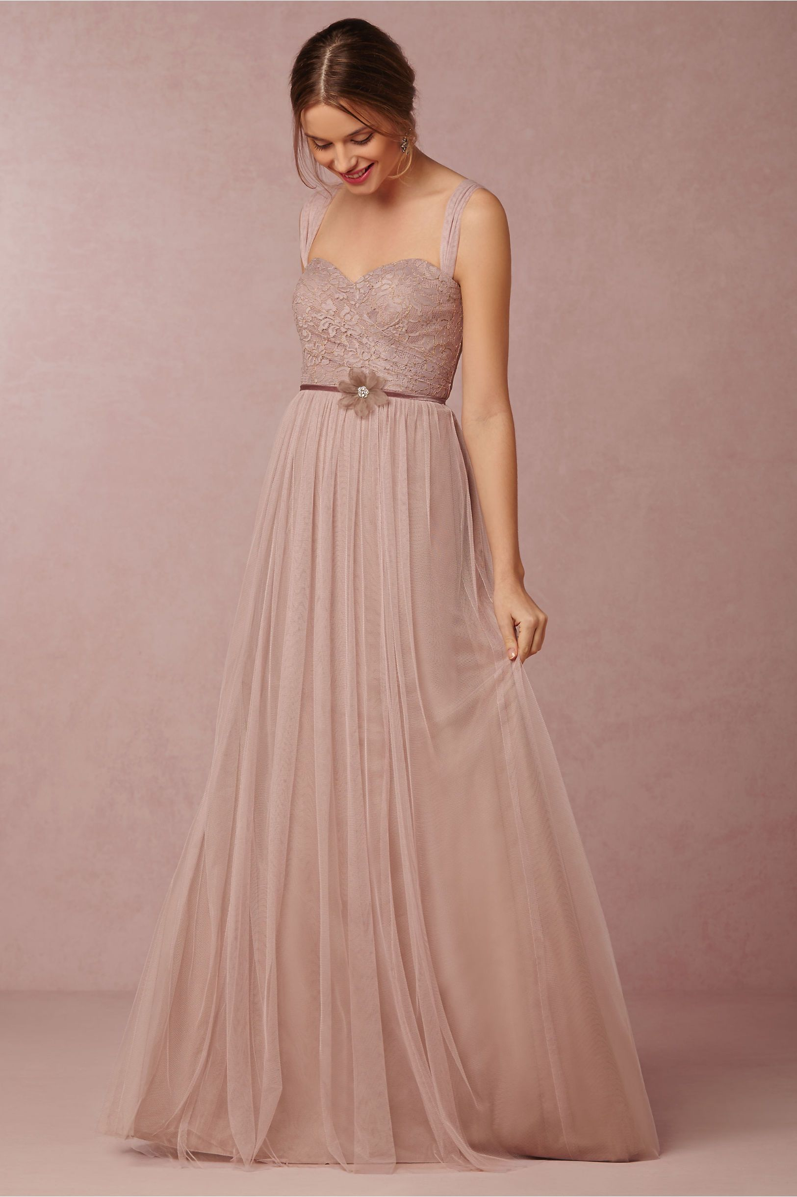 Juliette Bridesmaids Dress in rose quartz from @BHLDN | Bridesmaids ...