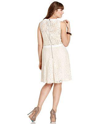 American Rag Plus Size Dress Sleeveless Lace A Line Plus Size
