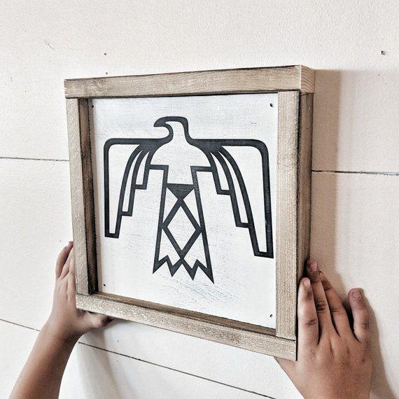Best Indian Thunderbird Wood Sign 9X9 Room Decor Home Decor 400 x 300