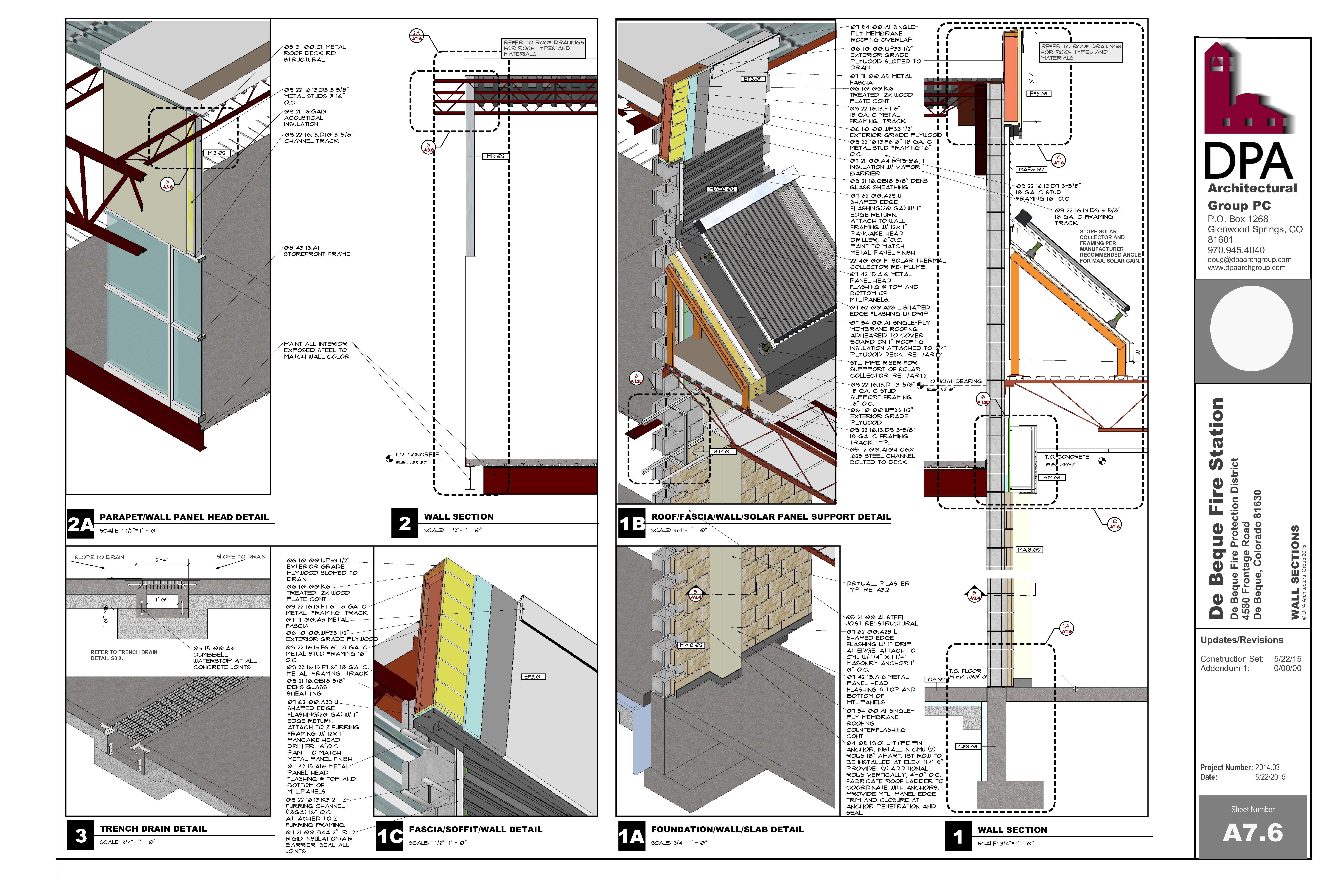 Fire Station Wall Section Developed In Sketchup And Layout Sketchup Pinterest Fire And Layout