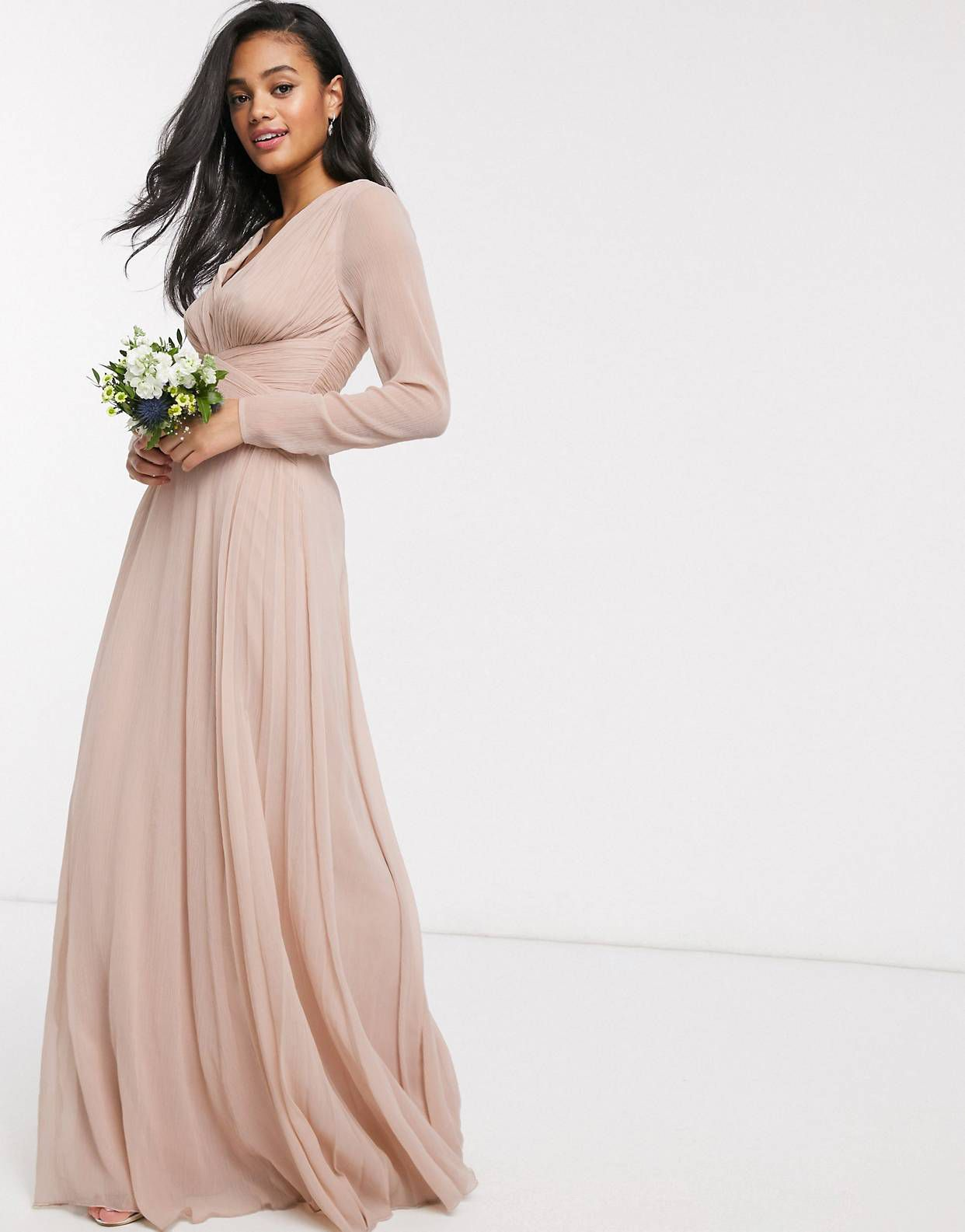 Pin By Roxy Pasternak On Dress A Day Neutral Bridesmaid Dresses Neutral Bridesmaid Dresses Mismatched Bridesmaid Dresses With Sleeves [ 1585 x 1242 Pixel ]